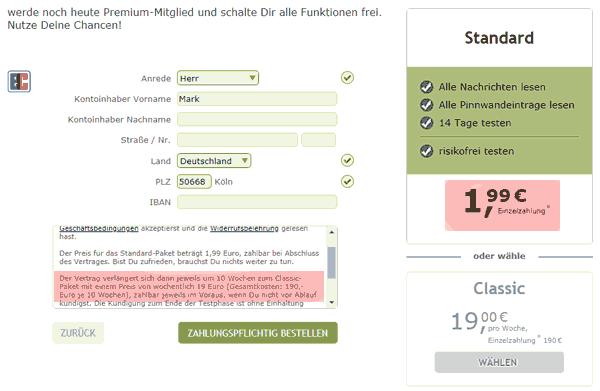 Abo-Falle auf Flirt-Fever.de